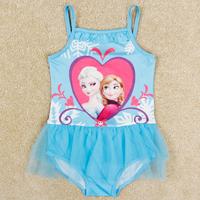 New arrival Frozen swimsuit girl princess Elsa & Anna nova summer kids swimwear for girls R5255