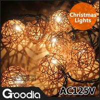 Christmas Decoration Strip Lamps 125V Wedding Rattan Strip Light Garden Indoor Outdoor Decoration Light Strip
