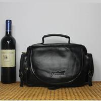 Vintage Famous Brand Natural Cow Leather Camera Bag Fashion Shoulder Messenger Bags for DSLR Camera and Lens
