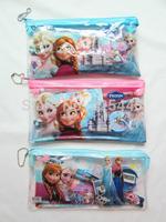 2014 pvc transparent frozen pencil case & pen bag & frozen stationery set(1set=7item)10pcs/lot Wholesale Hot Kids Gift