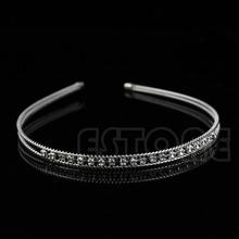 L109Fashion Metal Crystal Headband Head Piece Hair Band Jewelry for Women Girl Lady