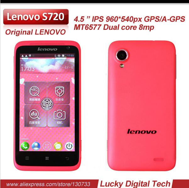 Original lenovo s720 multi-language-mobile telefonbuch 4,5 ips 960x540 mtk6577 dualcore1g 512mb ram 4 grom android4.0 auf Lager