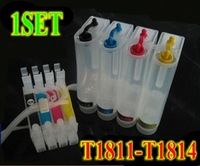 Free Shipping T1811 T1812 T1813 T1814 CISS ink cartridge For Epson Epson XP-305/202/102/405/102/205/302/402/405/30