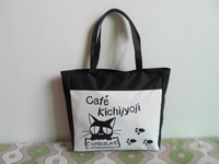 New fashion Cat letter print canvas totes shopping bag lady casual Handbag Beach Mommy bag Shopping Shoulder big bag