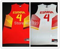 2014 Basketball World Cup Team Spain Espana #4 Paul Gasol 2 Colors  New Material Sport Shirt  Size:S-XXXL Free Shipping