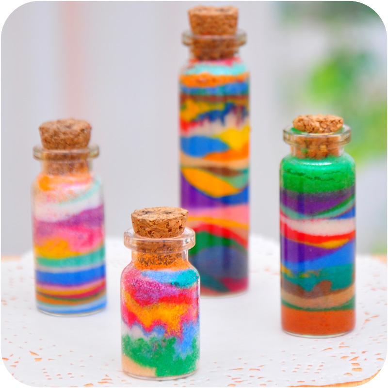 Поделки из песка бутылки