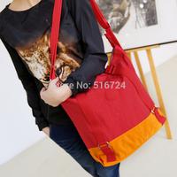 Color block women's handbag decoration handbag large capacity color block nylon bag one shoulder casual cross-body bag