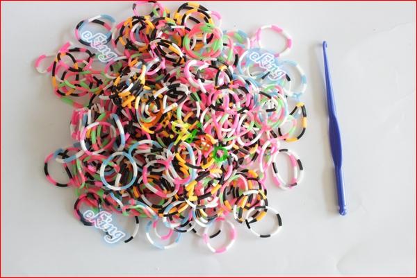 Tie Dye Loom Bracelet Mixed Colors Tie Dye Loom