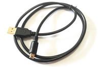 Gold mini usb cable 1m black color 100pcs/lot free shipping