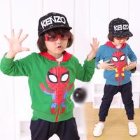 Childs Unisex Suits Boys Girls Spiderman Zipper Hoodies+Pants Kids Outfits Sets