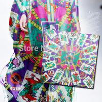 Silk chiffon silk cloth animation poker He * m * s positioning printed fabrics
