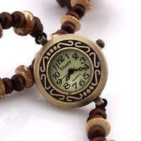 New Fashion 2014 Women Watches Round Pendant Analog Bracelet Long Quartz Wristwatches Discount Promotion