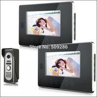 "2014 New Top Fashion free Shipping Video Doorphone & 7"" TFT LCD Indoor Monitor & Video Intercom System XSL-V70T-M2 1*2"