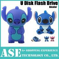 2014 new 4GB 8GB 16GB 32GB 64GB Cartoon USB flash drive cute stitch pen drive silicone stick/disk pendriver free shipping