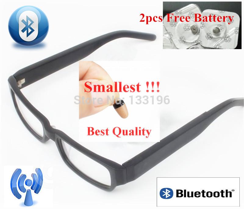 silm bluetooth gläser mit bester qualität und kleinste hörmuschel 2 Stück 337 batterie