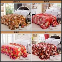 Free shipping! High quality gold mink cashmere blankets / cloud mink blanket / Black Velvet / flannel blanket 180*200 flowers