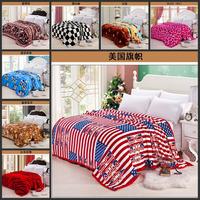 100% high quality gold mink cashmere blankets / cloud mink blanket / Black Velvet / flannel blanket 200*230 flag