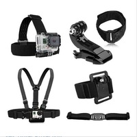 Gopro Accessories Chest Belt+WiFi Remote Wrist Belt+Head Strap Mount+Helmet Strap+Bag+mount Gopro HD Hero3 2 Black Edition