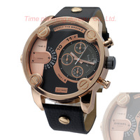 2014 New Arrival Men's leather strap Dz Luxury watches,Men's fashion dress watch,Men sports casualwatch,Busuiness watch Men gift
