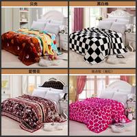 The new high-quality gold mink cashmere blankets / cloud mink blanket / Black Velvet / flannel blanket 150*200 shells