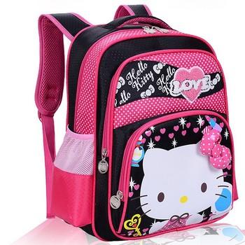 Новый японии и корейской стиль милые киски рюкзаки дети печать сумка мультфильм школьные ...