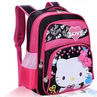 New Japan And Korean Style Cute Hello Kitty Backpacks Kids print Bag Cartoon School Bags For Girls Children Double Shoulder Bags