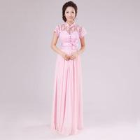 Chiffon Long Dress Bridesmaid Dress Party Wedding Prom Gown Wholesale HFN Custom Made (Bandage back) HL5