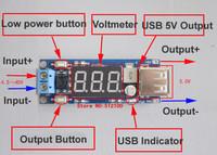 Freeshipping 5PCS DC 4.5-40V To 5V 2A USB Charger DC-DC Step-down Buck Converter Voltmeter Module
