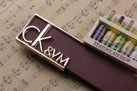 5colors kvm letter belt Design Brand Belt for men PU Leather belt pin Buckle jeans Fashion Gift dropshipping
