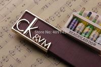 5colors kvm letter belt Design Brand Belt for men PU Leather belt pin Buckle jeans Fashion Gift dropshipping