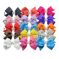 20pcs/lot baby hiar bows hair clips,Baby Girl pin wheel ribbon Bow ,Baby Boutique bows hairpins girl hair accessories