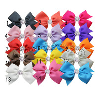 20pcs/lot baby hiar bows hair clips,Baby Girl pin wheel ribbon Bow ,Baby Boutique bows hairpins girl hair accessories