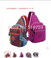 ree shipping women's chest waterproof nylon bag small satchel  messenger bag for outdoor activities