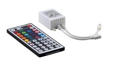 44 Keys LED IR RGB Controler For RGB SMD 3528 5050 LED Strip LED Lights Controller IR Remote Dimmer Input DC12V 6A Free Shipping