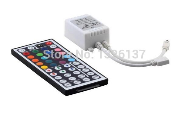 44 Keys LED IR RGB Controler For RGB SMD 3528 5050 LED Strip LED Lights Controller IR Remote Dimmer Input DC12V 6A Free Shipping(China (Mainland))