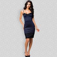 2014 Drop Free Shipping Knee Length Slim Evening Dress for Women Sexy Sweetheart Bodycon Pencil Dress