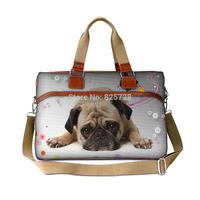Fashion Pug design canvas luggage handbag women travel bag portable duffle overnight weekend bag large capacity Free shipping