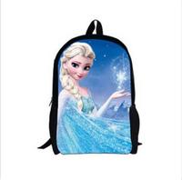 2014 Hot Sale 3D cartoon frozen backpack for girls,princess children school bag ,character student bags for kids