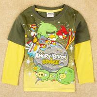 printed cartoon character Fireman Sam  boy spring autumn long sleeve T-shirt A5046Y