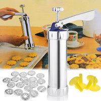 Aluminium Alloy 20 Designs Cookies Biscuit Maker Mold Extruder Press Machine Estrusora para Biscuit