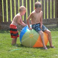 inflatable summer beach Ball outdoor kids Sprinkler toys water ball inflatable ball with water fountain