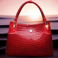 2014 new style crocodile pattern women handbag European style women shoulder bag fashion women bag