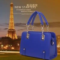 European and American women bag Korean version of the 2014 new fashionable big bag chain bag hand shoulder bag