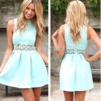 Summer dress 2014 Fashion Sexy Celeb Women Dress Casual Mini dress Chic Style Ball Gown Dress Free Shopping