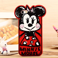 new style for iphone 5 5s 5g beautiful cartoon Graffiti mickey minnie cute phone case back cover protect free shipping