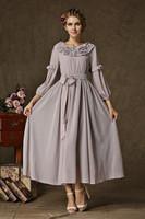 2014 women summer dress multilayered romantic lotus leaf collar burgundy gray dress sitter maxi bandage dresses evening dress