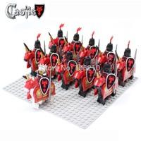 22pcs Dragon Knight A Cavalryman Minifigure compatible with LEGO Building Block doll,Castle Brick accessory minifig