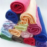 FA Wholesale 10pcs Square Luxury Soft Fiber Cotton Face/Hand Car Cloth Towel 25*25cm House Cleaning