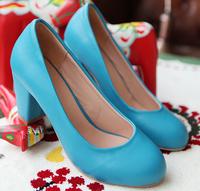2014 women pumps autumn preppy style high-heeled women's shoes princess shoes  size 34-39 office style