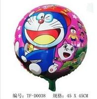 HOT SALE !!! 50pcs/lot 45*45cm doraemon aluminium ballons cartoon design helium balloon holiday party decoration balloons